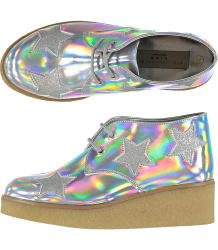 Stella McCartney Kids Wendy Glitter Wedge Boots STAR Stella McCartney Kids Wendy Glitter Wedge Boots SWAN