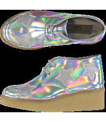 Stella McCartney Kids Wendy Glitter Wedge Boots STAR Stella McCartney Kids Wendy Glitter Wedge Boots SWAN