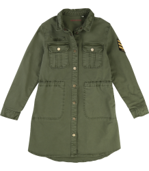 Zadig & Voltaire Kids Dress Army Zadig & Voltaire Kid Jurk Army