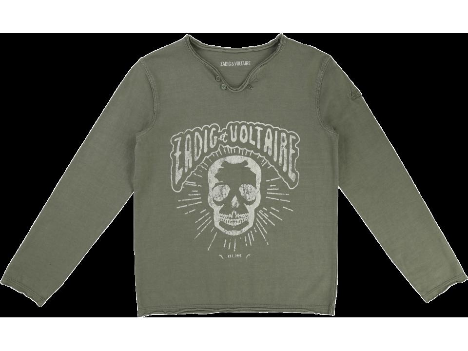 5cfe7fce8ee6 Zadig   Voltaire Kid T-shirt Boxer SKULL - Orange Mayonnaise