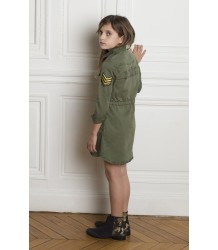 Zadig & Voltaire Kid Dress Army Zadig & Voltaire Kid Jurk Army