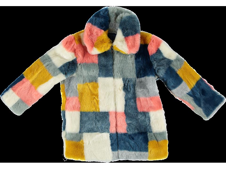 0e53d99231f3 Stella McCartney Kids Abbie Fake Fur Coat Square - Orange Mayonna