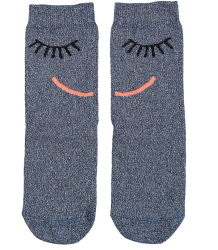 Stella McCartney Kids Trumpet Socks FACE Stella McCartney Kids Trumpet Socks FACE blue