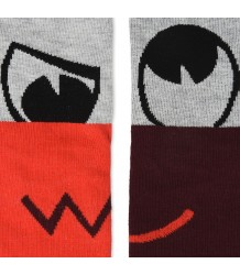 Stella McCartney Kids Trumpet Socks FACES 2-pack Stella McCartney Kids Trumpet Socks FACES 2-pack