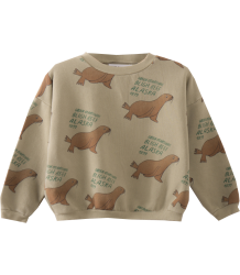 Bobo Choses Sweatshirt GREEN OTARIINAE aop Bobo Choses Sweatshirt GREEN OTARIINAE aop