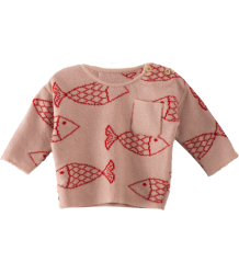 Bobo Choses Baby Knitted Jumper Shoaling FISH Bobo Choses Baby Knitted Jumper Shoaling FISH