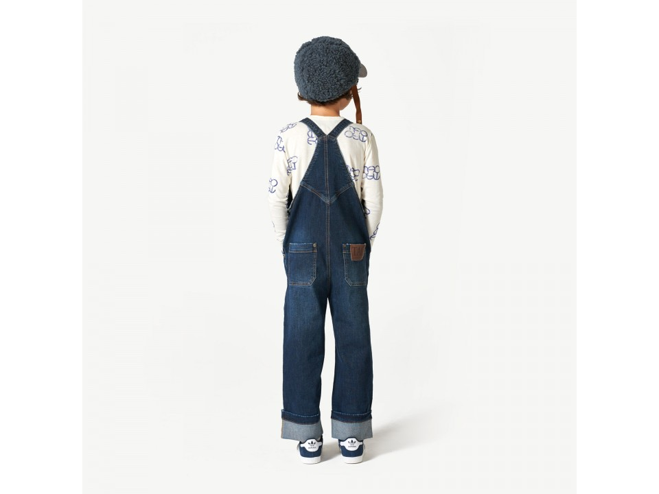 The Animals Observatory Miner Kids Overall Suit Orange