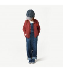 The Animals Observatory Peasant Kids Cardigan FACE The Animals Observatory Peasant Kids Cardigan