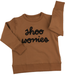 Tiny Cottons SHOO WORRIES Graphic Sweatshirt iny Cottons SHOO WORRIES Graphic Sweatshirt brown