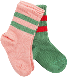 Mini Rodini Stripe Sock 2-pack Mini Rodini Stripe Sock 2-pack pink
