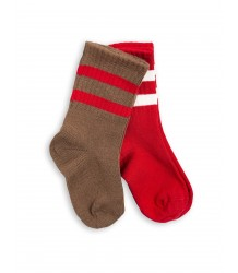 Mini Rodini Stripe Sock 2-pack Mini Rodini Stripe Sock 2-pack red