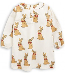 Mini Rodini RABBIT Woven Collar Dress Mini Rodini RABBIT Woven Collar Dress