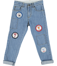 Stella McCartney Kids Lohan Boyfriend Denim BADGES Stella McCartney Kids Lohan Boyfriend Denim BADGES