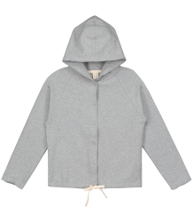 Gray Label Hooded Cardigan with Snaps Gray Label Hooded Cardigan with Snaps grey melange