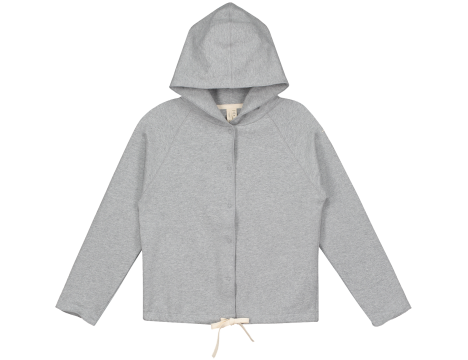 Gray Label Hooded Cardigan with Snaps