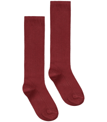 Gray Label Long Ribbed Socks Gray Label Ribbed Socks burgundy