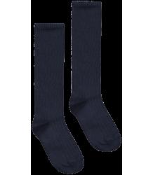 Long Ribbed Socks Gray Label Ribbed Socks night blue