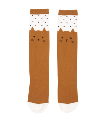 Emile et Ida Sock CAT Emile et Ida Sock CAT caramel brown