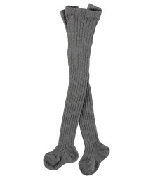 Mini Sibling Ribbed Tights Mini Sibling Ribbed Tights grey melange