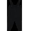 Mini Sibling Knit Romper w/Suspenders Mini Sibling Tricot Romper black