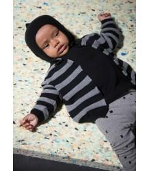 Mini Sibling Knit Sweater-Cardigan STRIPES Mini Sibling Tricot Sweater-Cardigan STRIPES