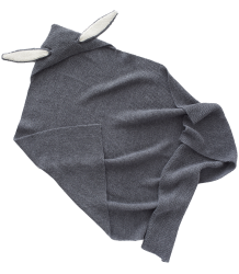 Oeuf NYC BUNNY Ears Blanket Wool Oeuf NYC Bunny Ears Blanket Wool dark grey