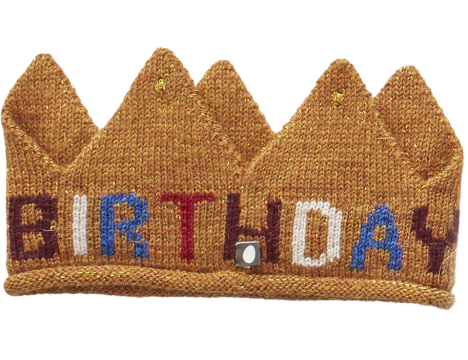 Oeuf NYC Knit Crown BIRTHDAY