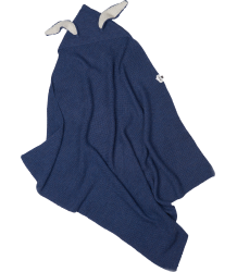 Oeuf NYC BUNNY Ears Blanket Wool Oeuf NYC Bunny Ears Blanket indigo blue