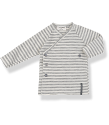 1+ in the Family MOMO NewBorn Shirt 1  in the Family MOMO NewBorn Shirt grey striped