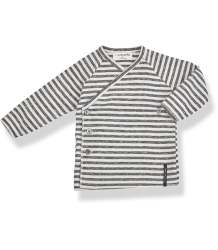 1+ in the Family MOMO NewBorn Shirt 1  in the Family MOMO NewBorn Shirt anthracite striped