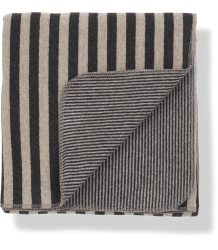1+ in the Family LAIA Stripes Jersey Blanket 1  in the Family LAIA Stripes Jersey Blanket beige Anthracite