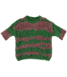 Caroline Bosmans Knitted Top LUREX STRIPE Caroline Bosmans Knitted Sweater LUREX green rose