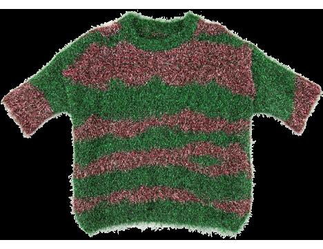 Caroline Bosmans Knitted Top LUREX STRIPE
