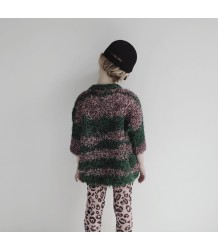 Knitted Top LUREX STRIPE Caroline Bosmans Knitted Sweater LUREX green rose