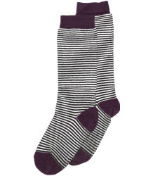 Mingo Knee Socks STRIPES Mingo Knee Socks STRIPES aubergine
