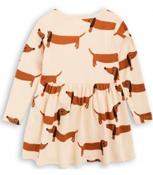 Mini Rodini DOG LS Dress Mini Rodini DOG LS Dress beige