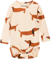 Mini Rodini DOG LS Body Mini Rodini DOG LS Body beige