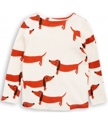 Mini Rodini DOG LS Tee Mini Rodini DOG LS Tee off-white