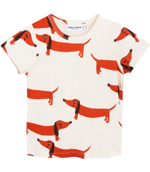 Mini Rodini DOG SS Tee Mini Rodini DOG SS Tee off-white
