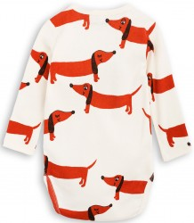Mini Rodini DOG LS Body Mini Rodini DOG LS Body off-white