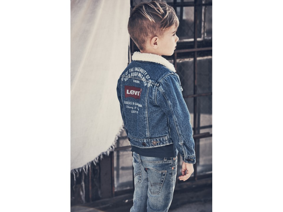 c797d2b3338a8e Levi's Kids Trucker Jacket - Orange Mayonnaise