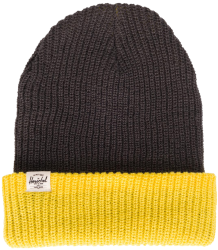 Quartz Beanie Herschel Quartz Beanie Youth charcoal Yellow
