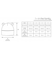 1+ in the Family LEO Bonnet 1more in the Family Leo Bonnet sizing