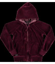Yporqué Fleece Velvet Hoodie Yporque Fleece Velvet Hoodie Dark Garnett