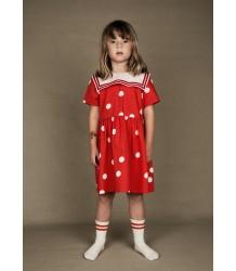 Mini Rodini DOT Woven Sailor Dress Mini Rodini DOT Woven Sailor Dress red