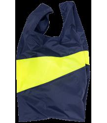 Susan Bijl  The New Shoppingbag Susan Bijl The New Shoppingbag Navy Fluo Yellow