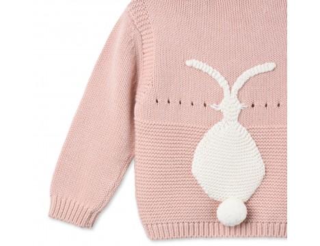 Stella McCartney Kids Thumper Baby Jumper BUNNY Pink