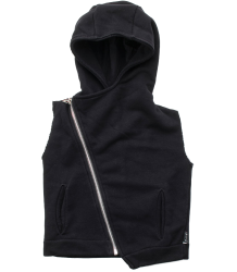 Nununu Hooded Diagonal Vest Nununu Hooded Diagonal Vest black