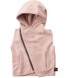 Nununu Hooded Diagonal Vest Nununu Hooded Diagonal Vest pink powder