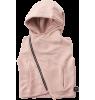 Nununu Hooded Diagonal Vest Nununu Hooded Diagonal Vest pink powder